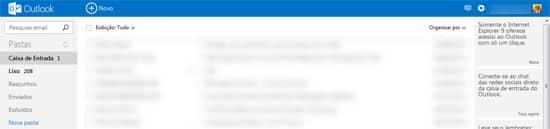 Caixa entrada Outlook