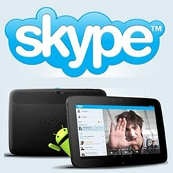 Entrar Skype tablet Android