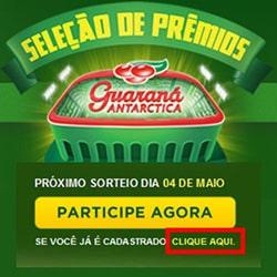 Promoção Seleção de Prêmios Guaraná Antarctica – Cadastrar produtos