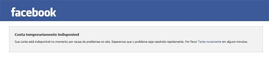 Facebook indisponível