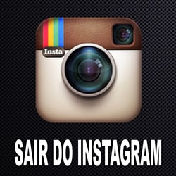 Como sair do Instagram