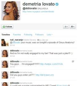 Twitter recuperado Demi Lovato