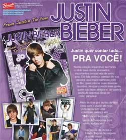 Álbum figurinhas Justin Bieber