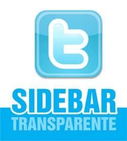 Sidebar Twitter Transparente