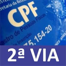 2 via CPF comprovante inscrição