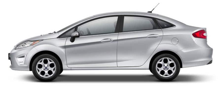 visão lateral carro