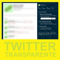 Twitter transparente códigos