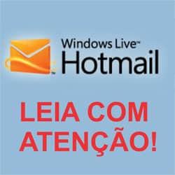 Bloqueio usuário Hotmail.com vírus
