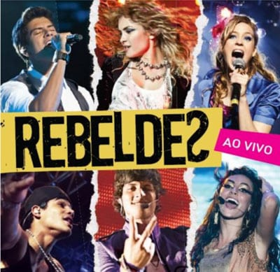 Capa CD novela Rebelde
