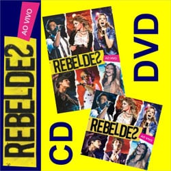 CD DVD banda novela Rebelde