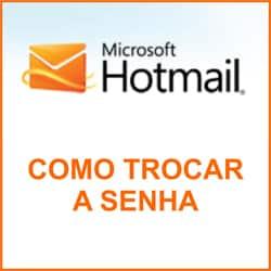 Alterar senha Hotmail Messenger