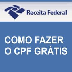 Fazer CPF grátis internet