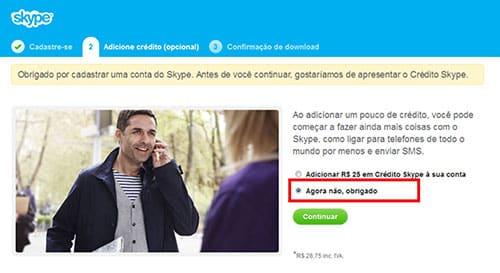 Fazer Skype Grátis