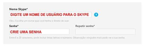 Fazer Skype Nome Senha