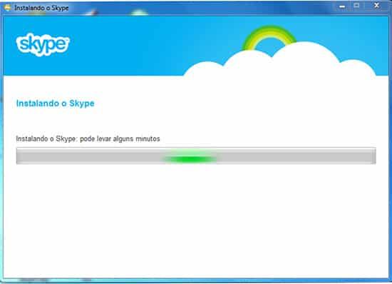 processo Instalação Skype