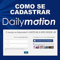 Cadastrar Dailymotion
