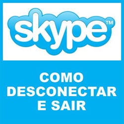 Desconectar e sair do Skype