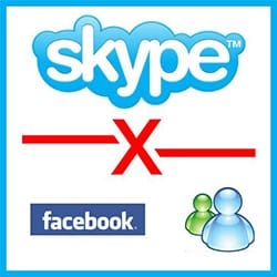 Desvincular Skype do MSN Messenger e Facebook