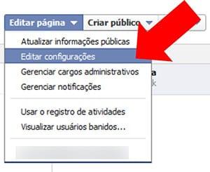 Excluir página Facebook