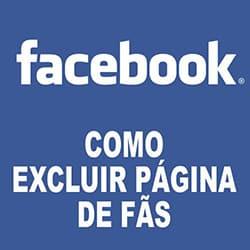 Excluir página fãs Facebook