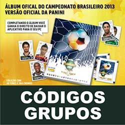 Códigos Grupos álbum virtual Brasileirão