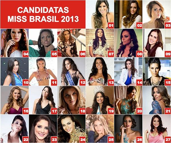 Fotos Candidatas Miss Brasil 2013
