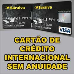 Cartão Crédito Saraiva Internacional